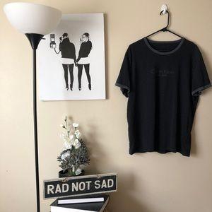 🌸Calvin Klein New York logo ringer tee in black